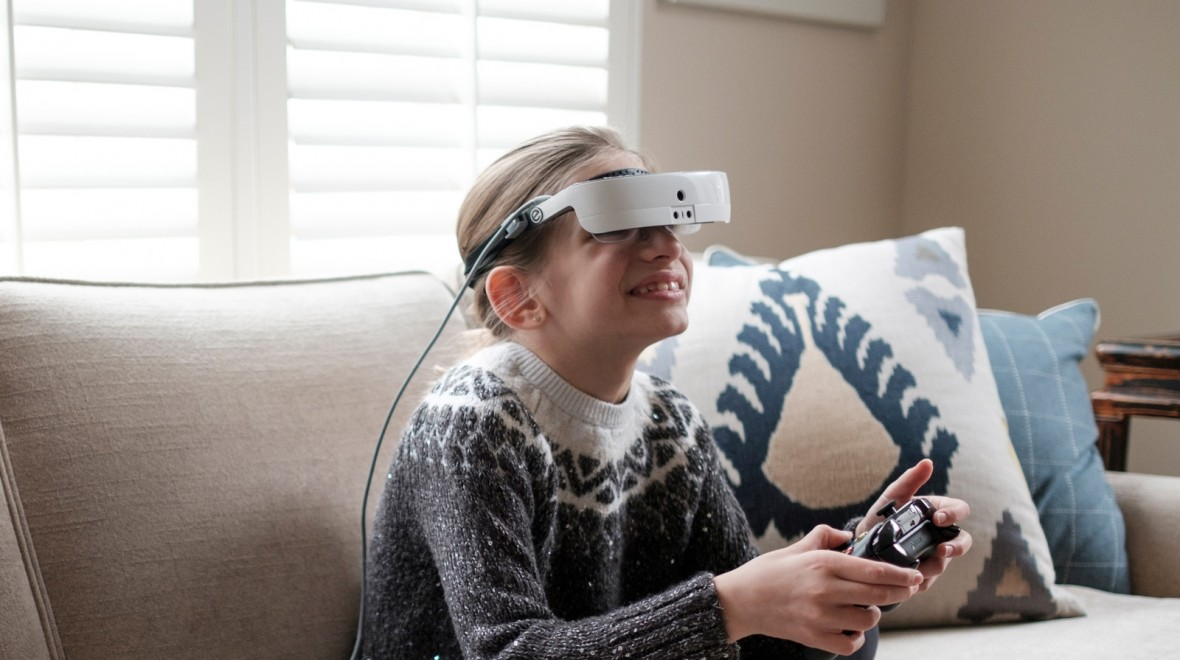 The eSight 3 allows the blind to see
