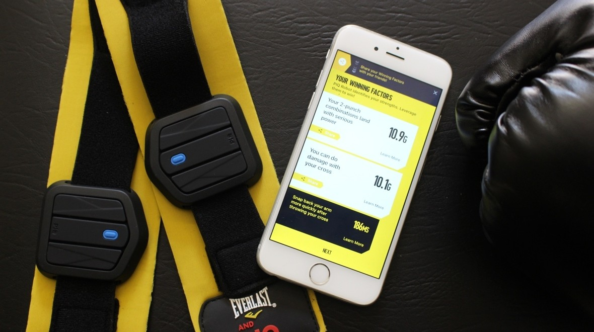 Boxing with PIQ's punch trackers