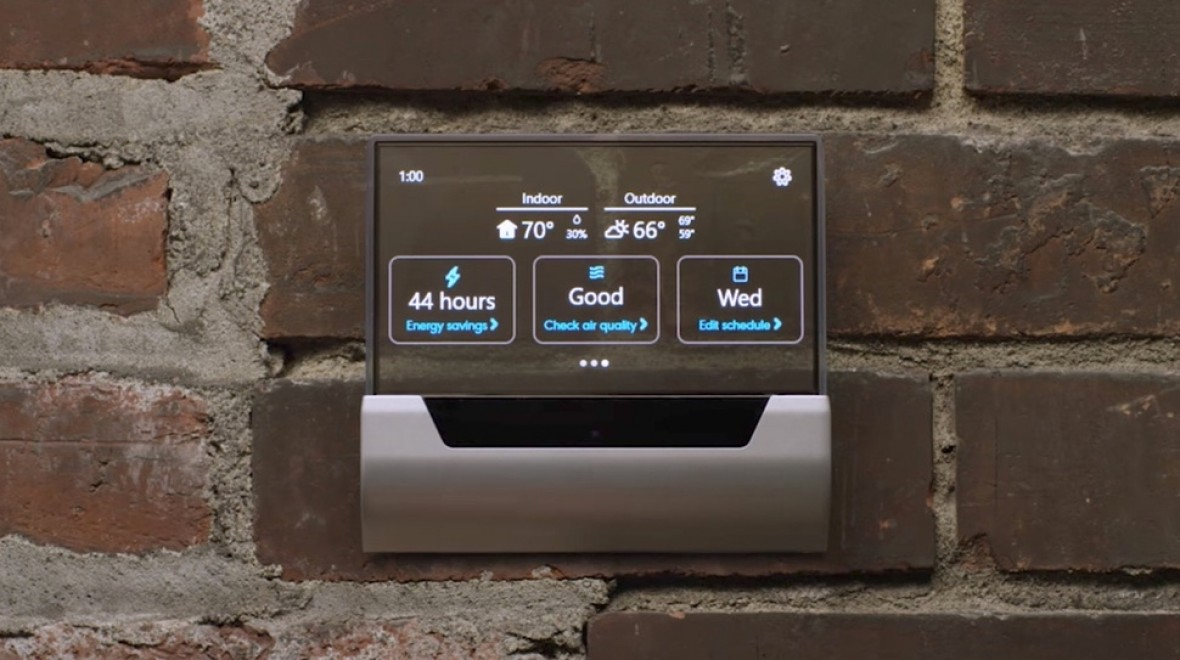 GLAS is a Cortana powered smart thermostat