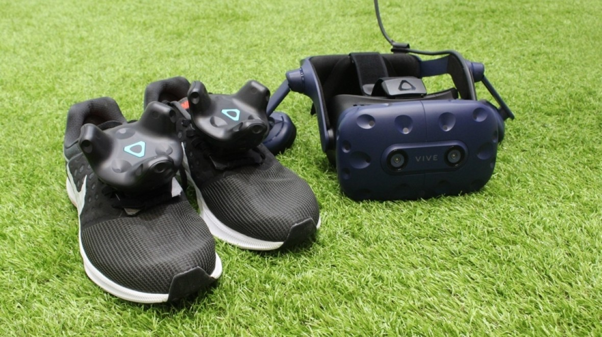 VR football with Vive's new trackers