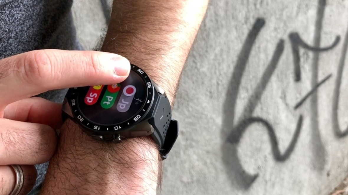 This smartwatch translates from the wrist