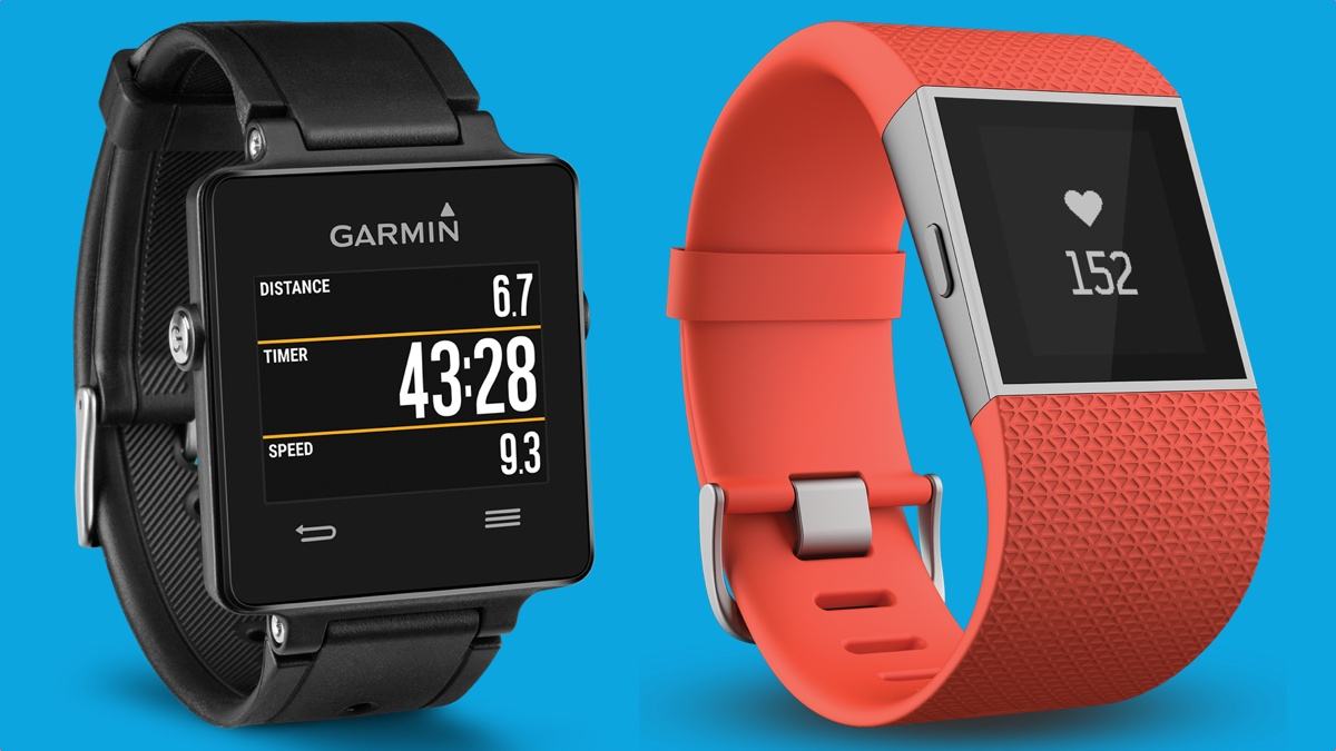Fitbit Surge V Garmin Vivoactive Sporty Smartwatch Showdown
