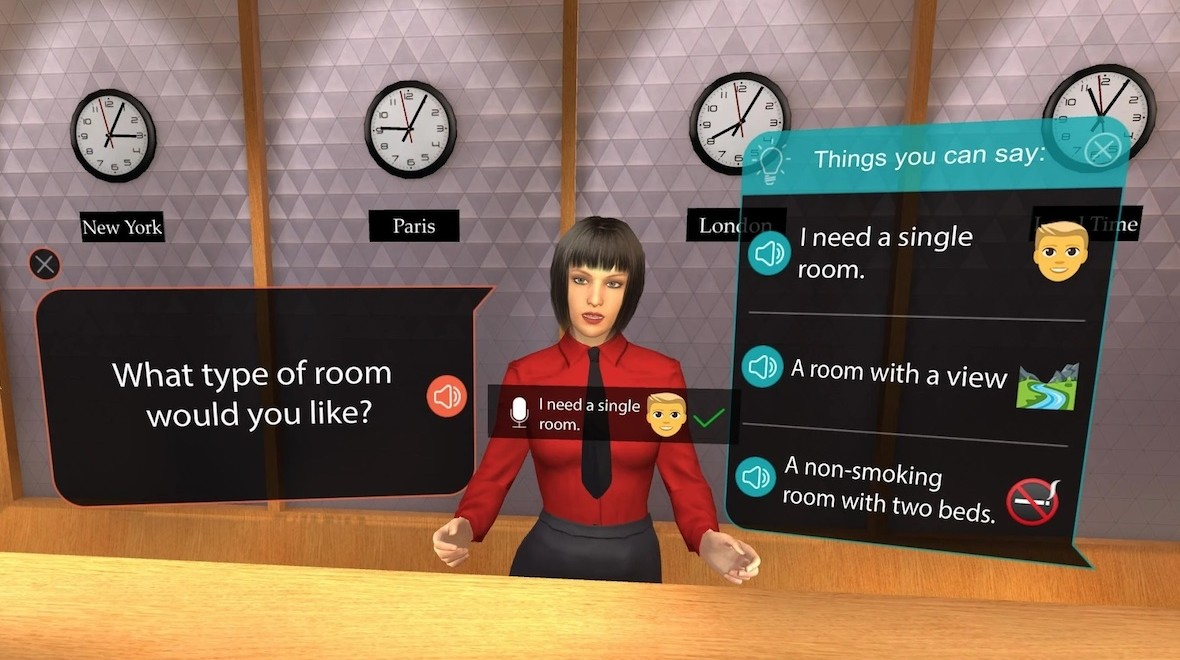 VR diary: Learning a language