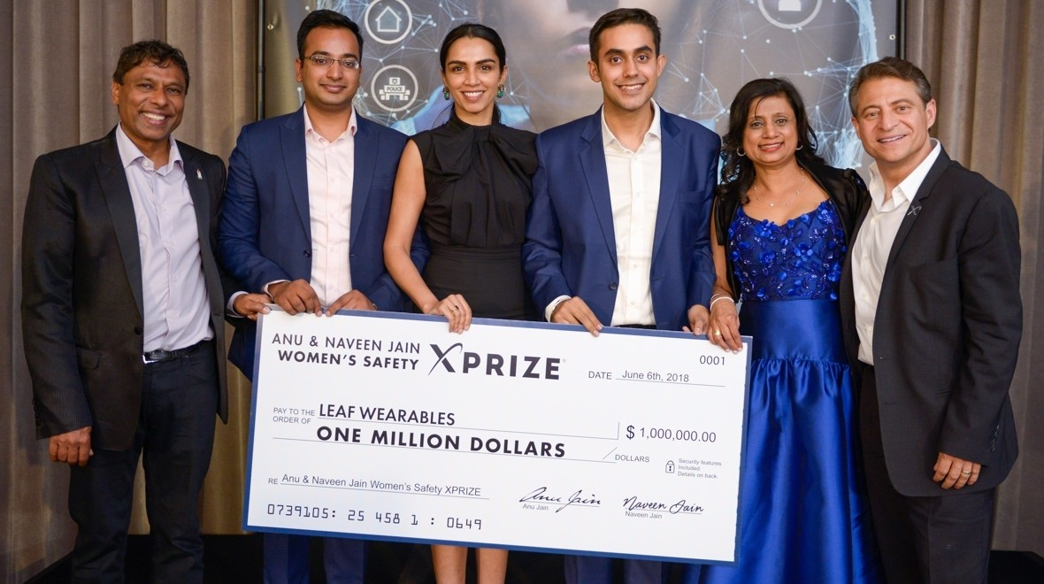 Leaf Wearables wins Women's Safety XPrize