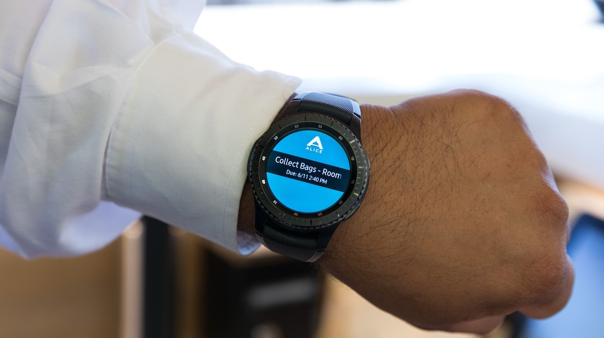 Hotels will use Gear S3s to improve service