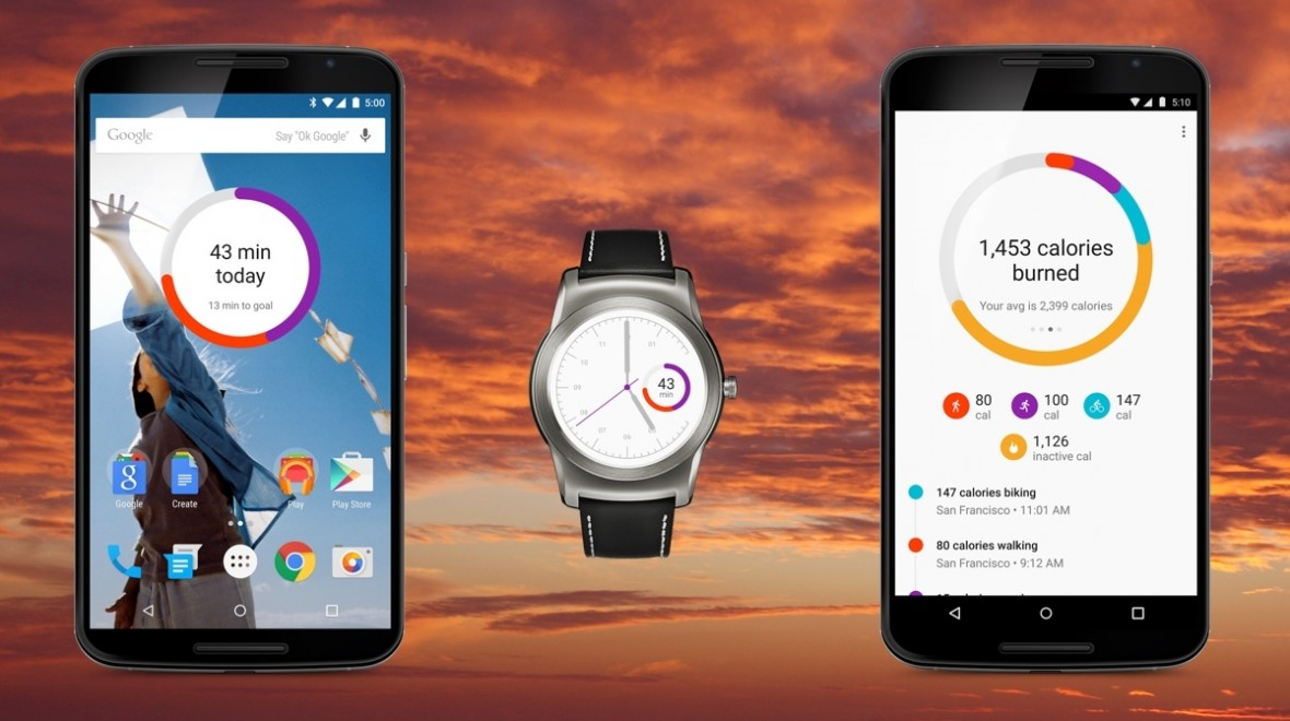 Android Wear Google Fit watch face lands