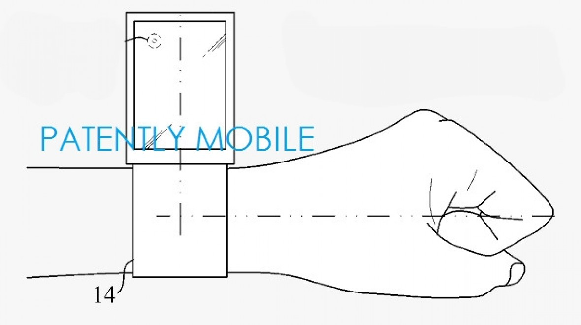 Samsung patent for moving smartwatch display
