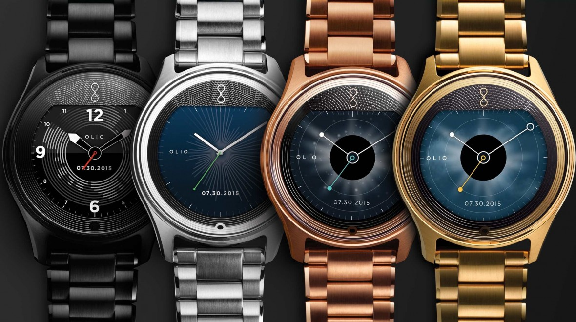Olio Model One smartwatch goes gold