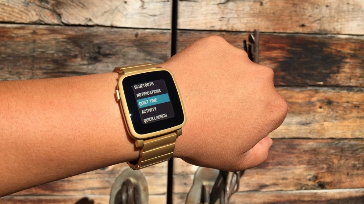 Pebble Watch update brings 'Quiet Time'