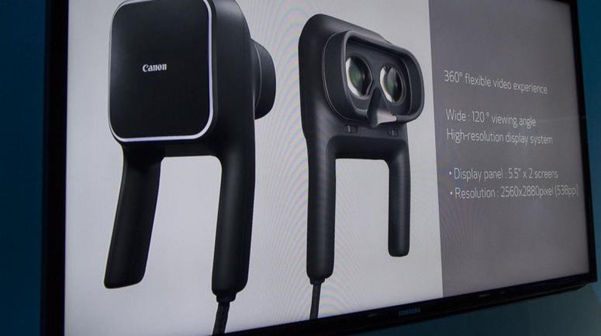 Canon unveils VR headset