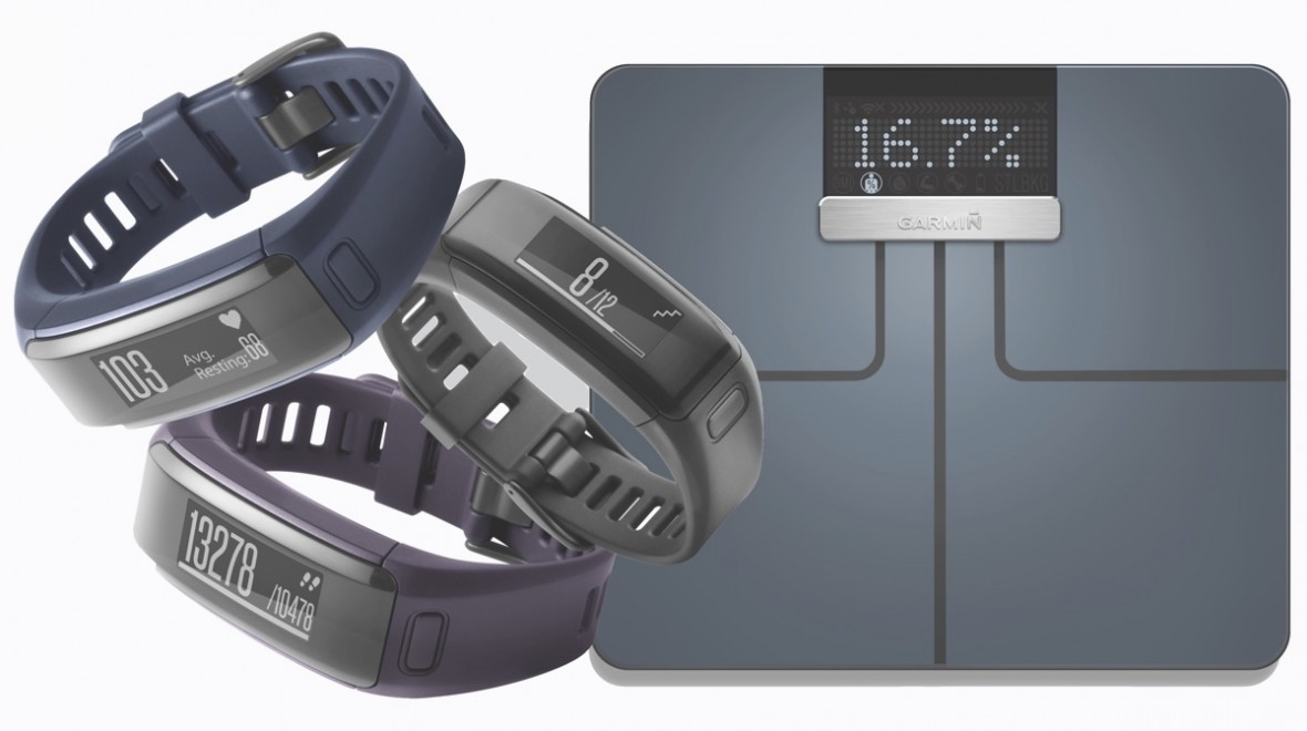 Vivosmart HR and Garmin smart scales land