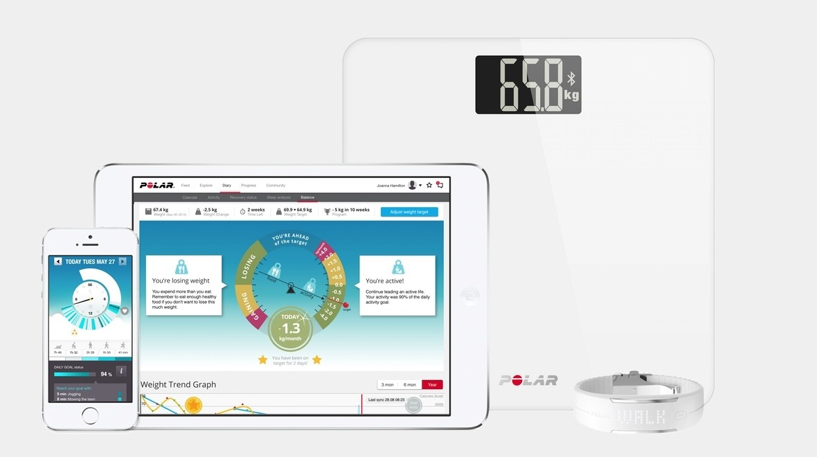 Polar Balance scale to help fight the fat