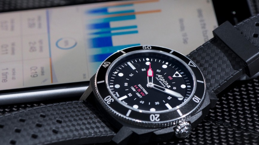 Alpina Seastrong Horological is hybrid smartwatch for divers