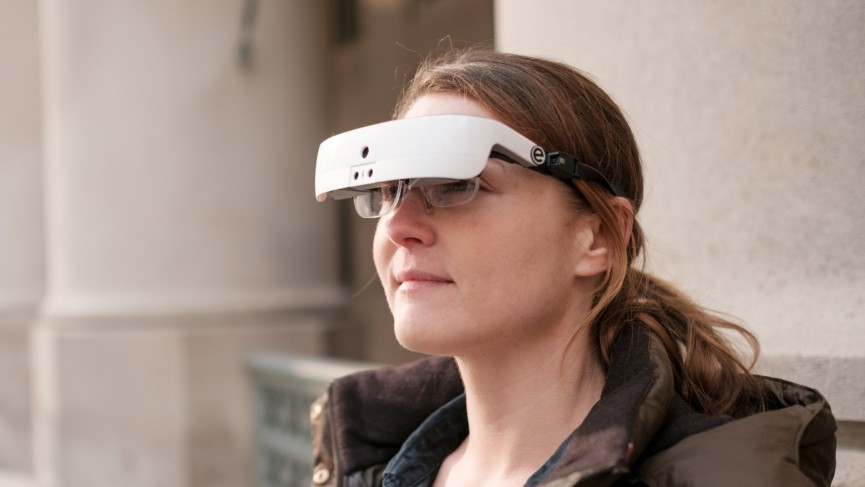 This headset lets the legally blind see again