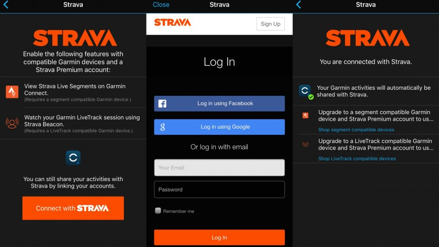 How to connect Garmin and Strava