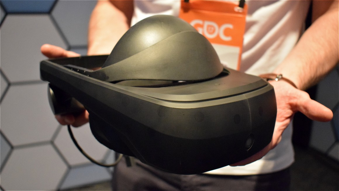 This is LG's SteamVR headset, a huge moment for virtual reality