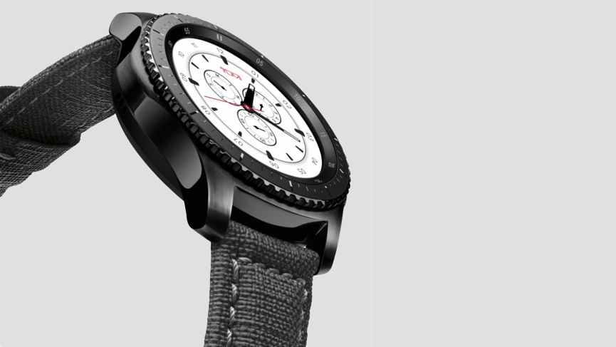 The TUMI-branded Samsung Gear S3 is made for the frequent flyer