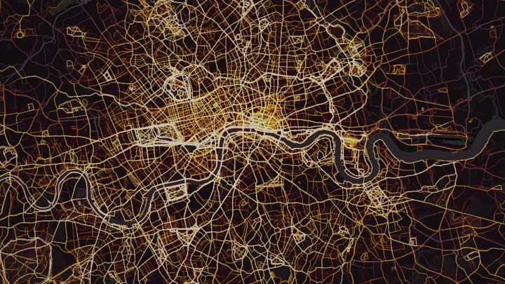 Strava Global Heat Maps reveals where runners and cyclists travel the most