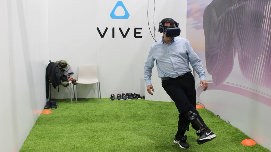 I played football in VR using Vive's new trackers and it was a beautiful thing