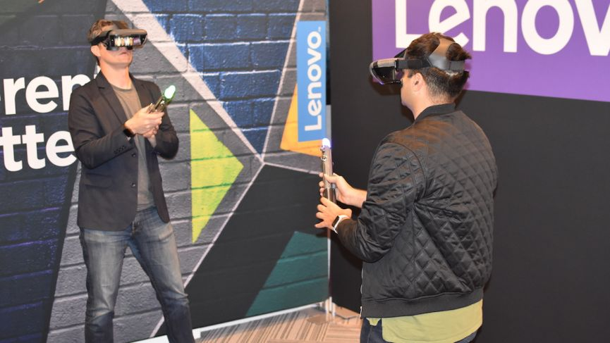 Lenovo and Disney's Jedi Challenges will let you lightsaber battle against your friends