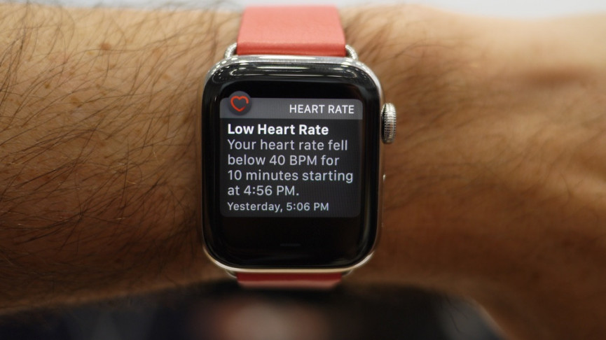 Low heart rate notification on Apple Watch Series 5