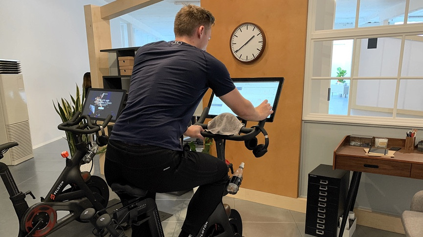 Trying out peloton: the cycling platform used by regular joes and a