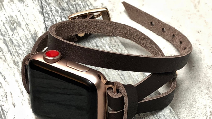leather thin strap ladies apple watch band