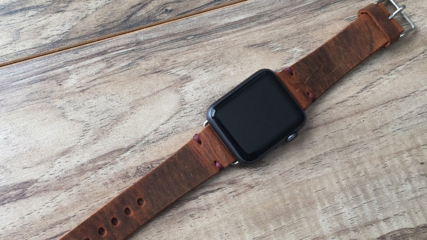 Cinnamon leather band