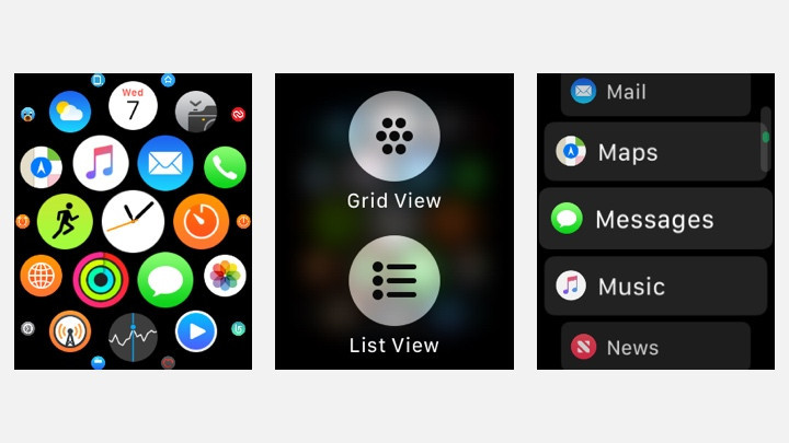 Reorganise apps on the Apple Watch homescreen