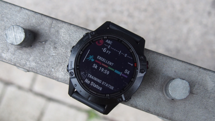 the garmin fenix 6 showing daily fitness data