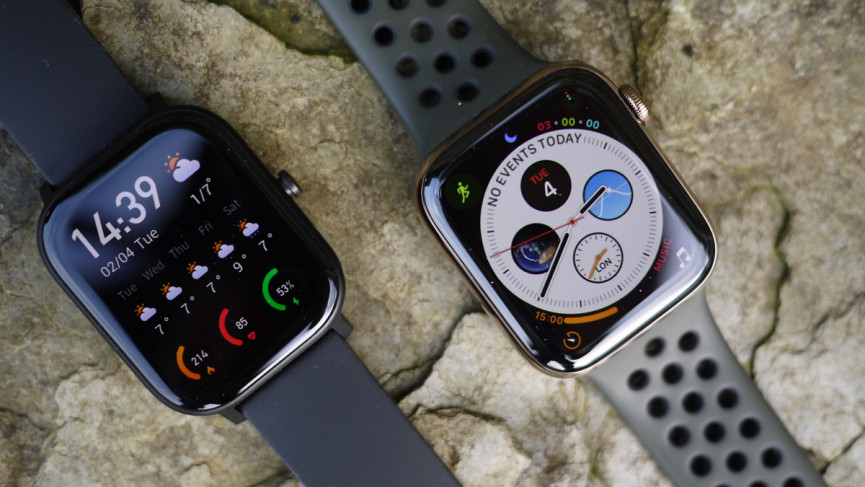 Amazfit GTS vs Apple Watch design