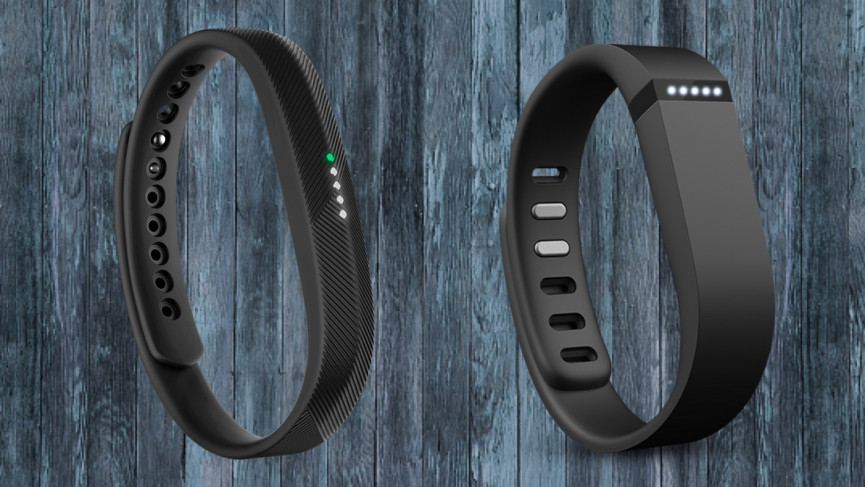 Fitbit Flex - 2013 (right) and Flex 2 - 2017 (left)