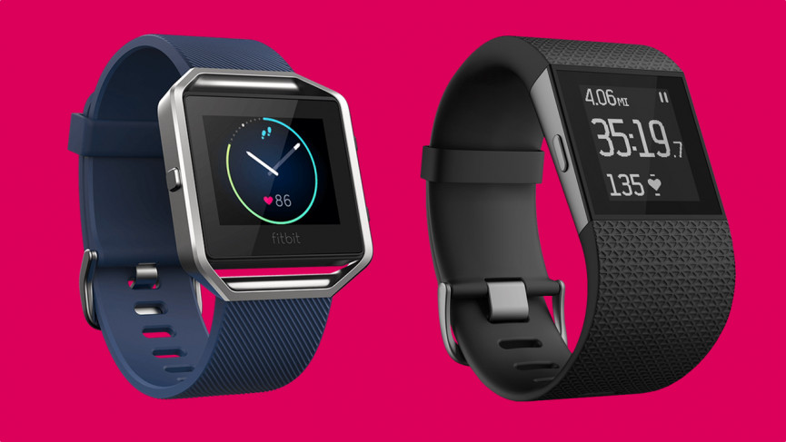 Fitbit Blaze (2016) was a first stab at a smartwatch. The Surge (right) was its 2016 running watch