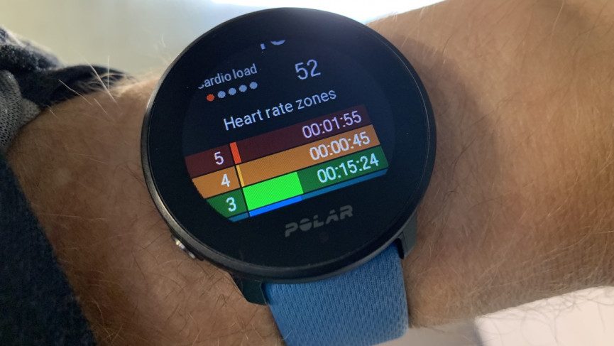 Polar Unite heart rate zones