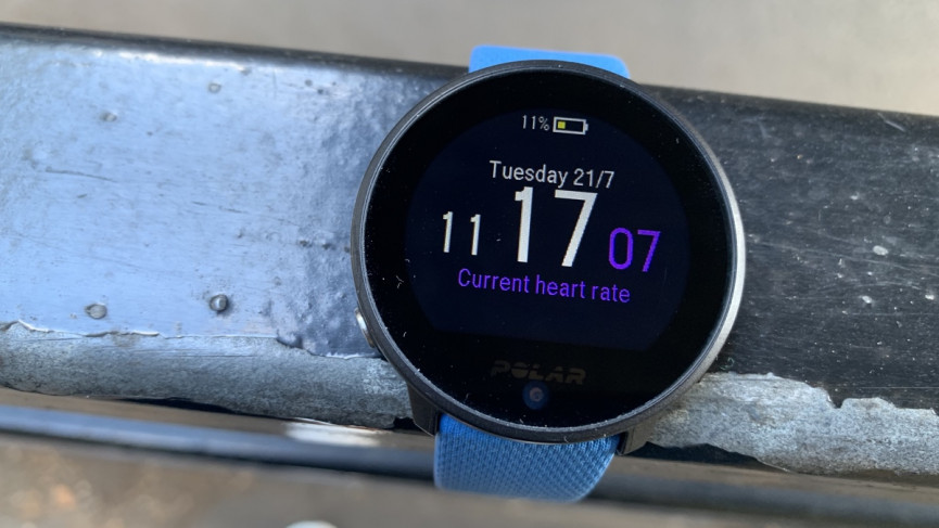 Polar Unite watch face and screen