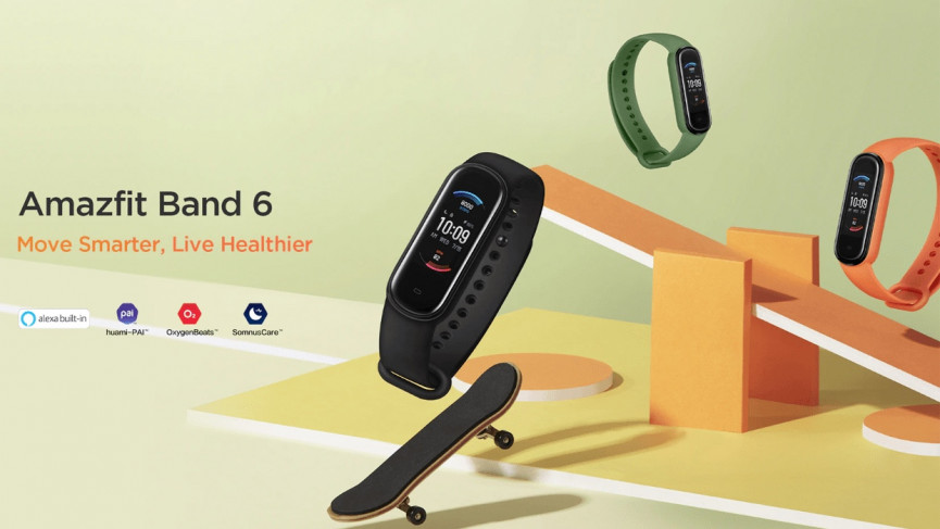 Amazfit Band 6 promotional material leaked online