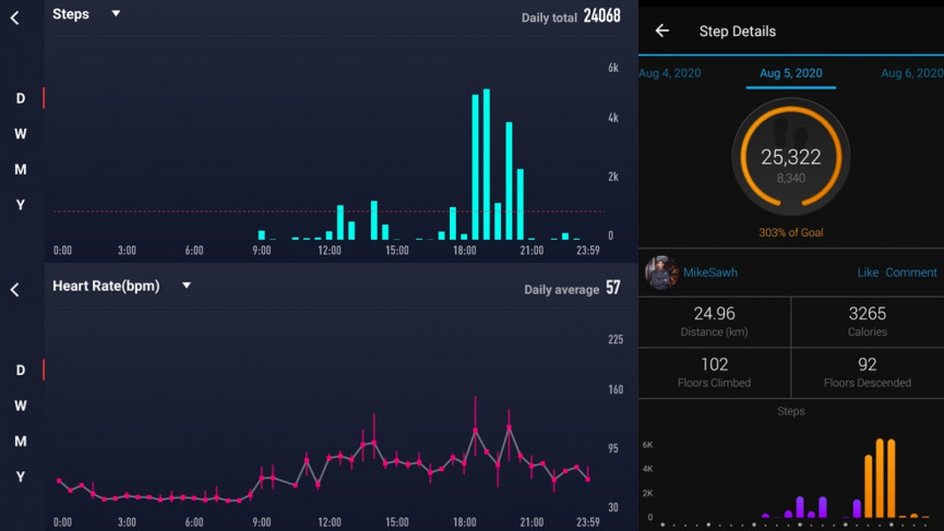 Coros Pace 2 general fitness tracking and steps data