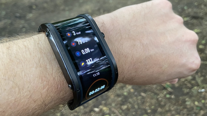 Nubia Watch showing fitness tracking