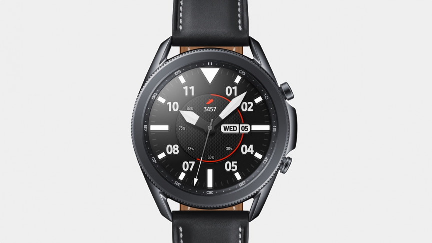 Samsung Galaxy Watch 3 design with steel and leather strap