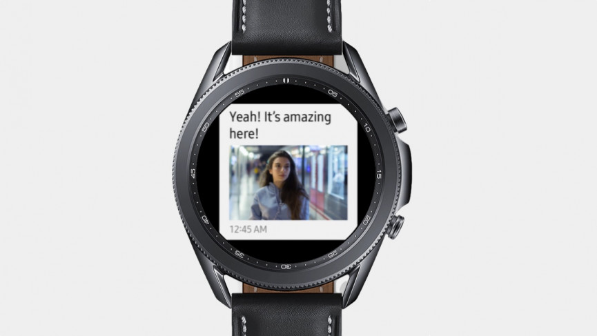 Galaxy Watch 3 showing conversation