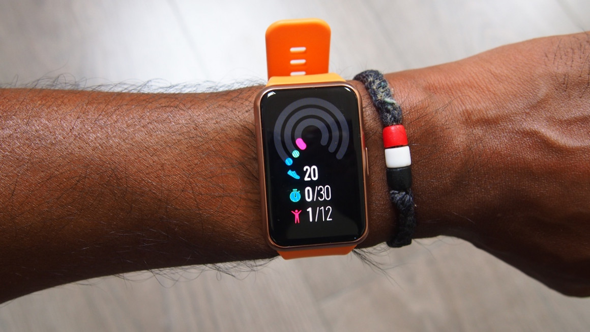 Huawei Watch Fit step and fitness tracking