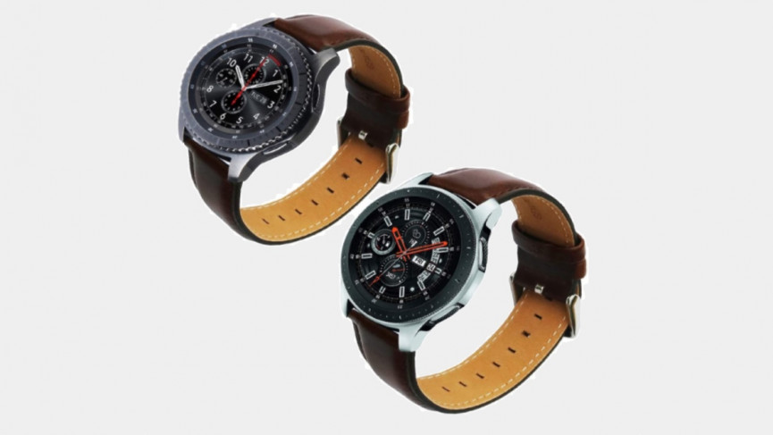45mm Samsung Galaxy Watch 3 brown leather classy band