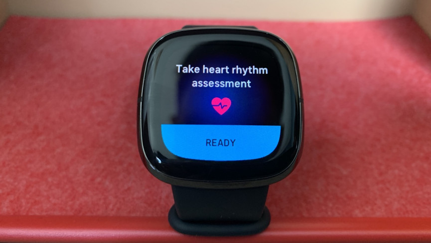 Fitbit Sense ECG app on the watch