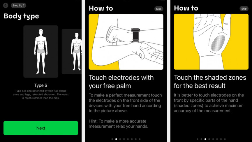 Aura smartphone app and fitting