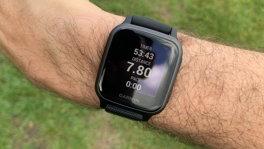 Garmin Venu Sq workout stats