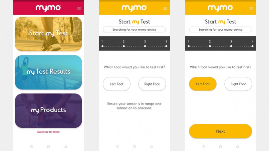 Mymo is a wearable that finds your perfect running shoe