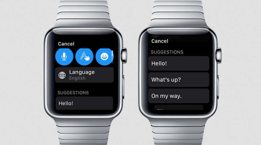 how to reply to a WhatsApp message from Apple Watch