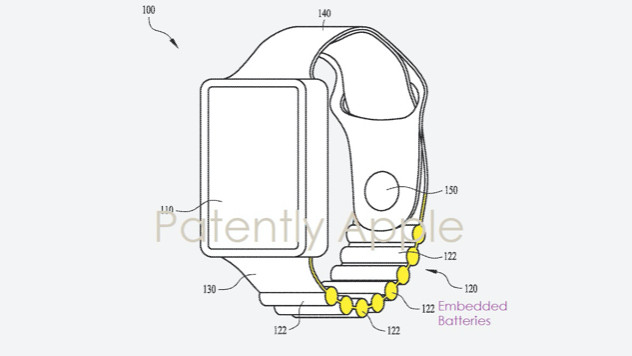 Apple Watch battery strap patent