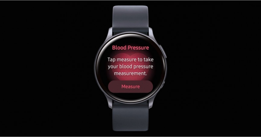 Samsung with blood pressure monitoring