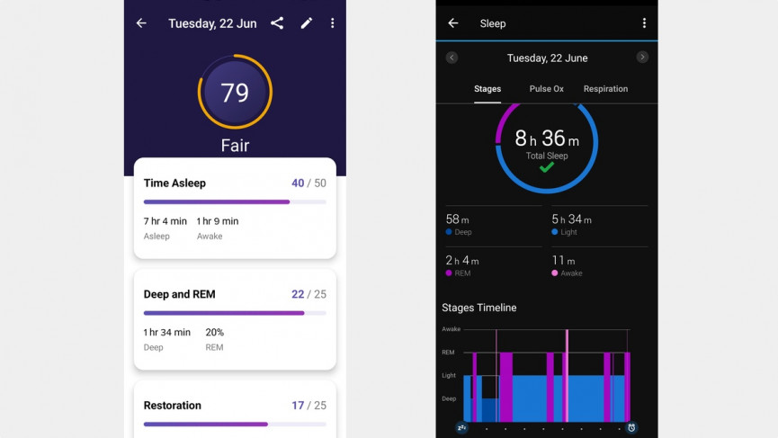 Fitbit Luxe sleep tracking